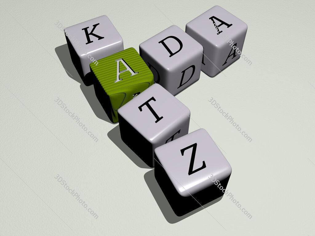 Ada Katz crossword by cubic dice letters