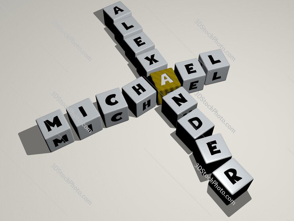 Michael Alexander crossword by cubic dice letters