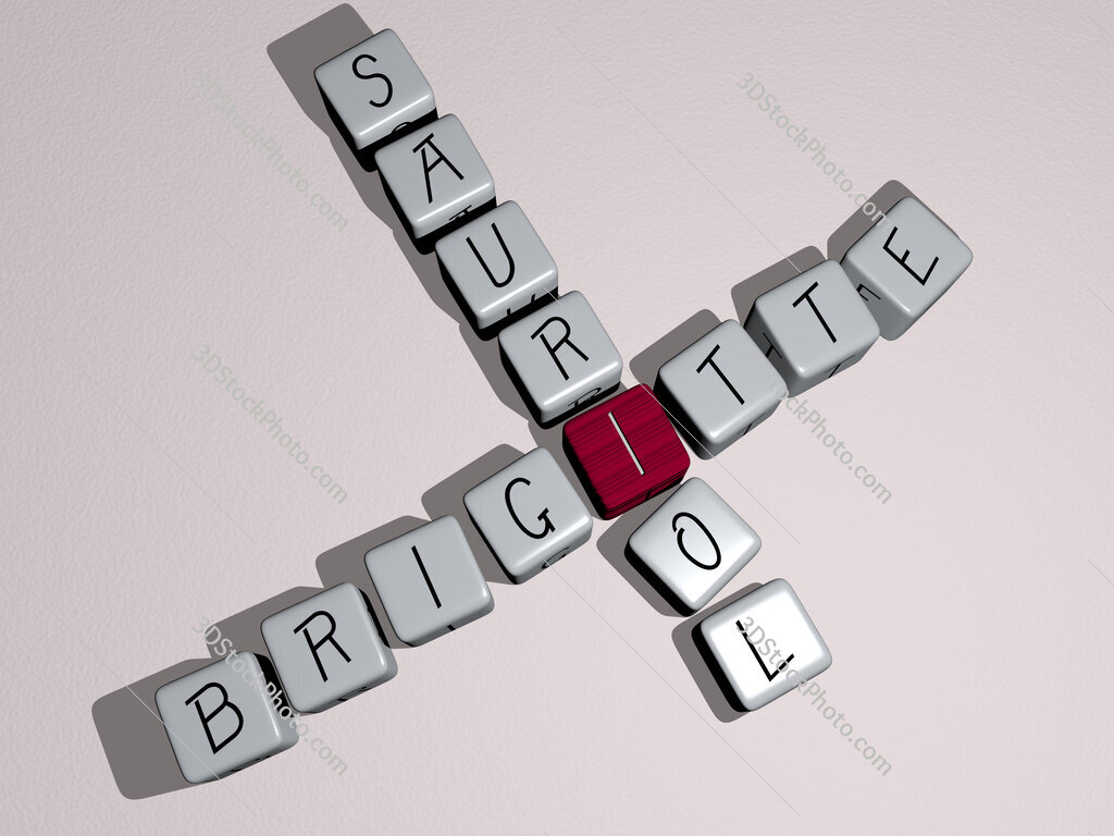 Brigitte Sauriol crossword by cubic dice letters