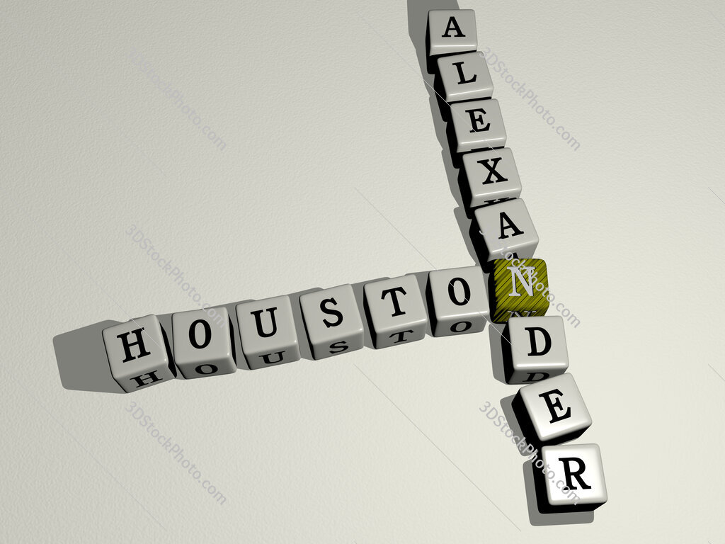 Houston Alexander crossword by cubic dice letters