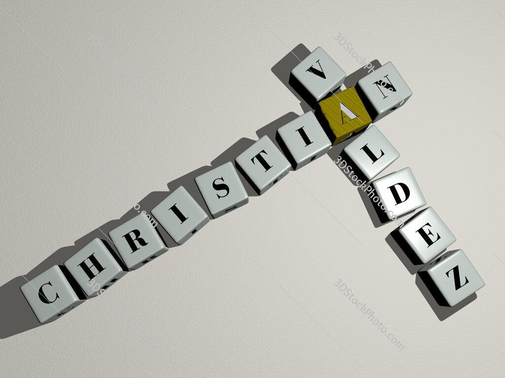 Christian Valdez crossword by cubic dice letters