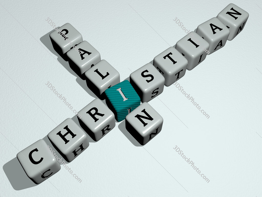 Christian Palin crossword by cubic dice letters