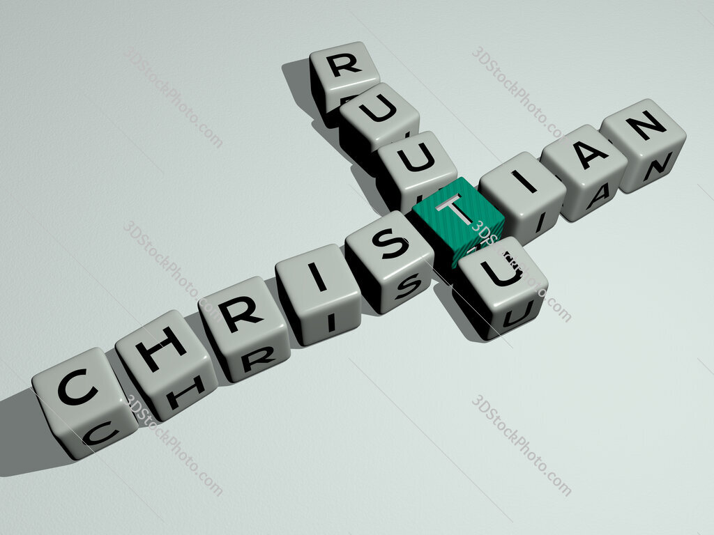 Christian Ruutu crossword by cubic dice letters