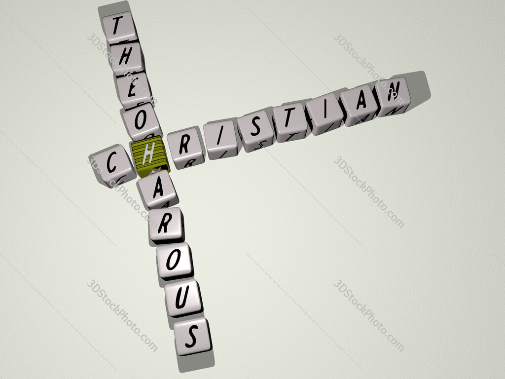Christian Theoharous crossword by cubic dice letters