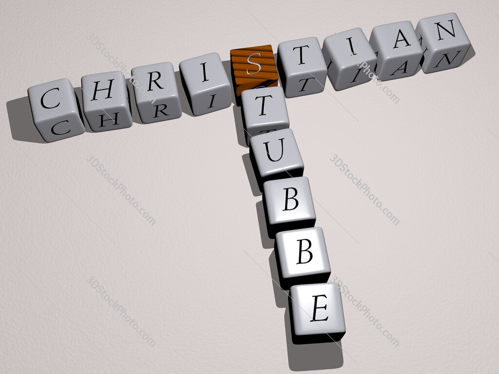 Christian Stubbe crossword by cubic dice letters