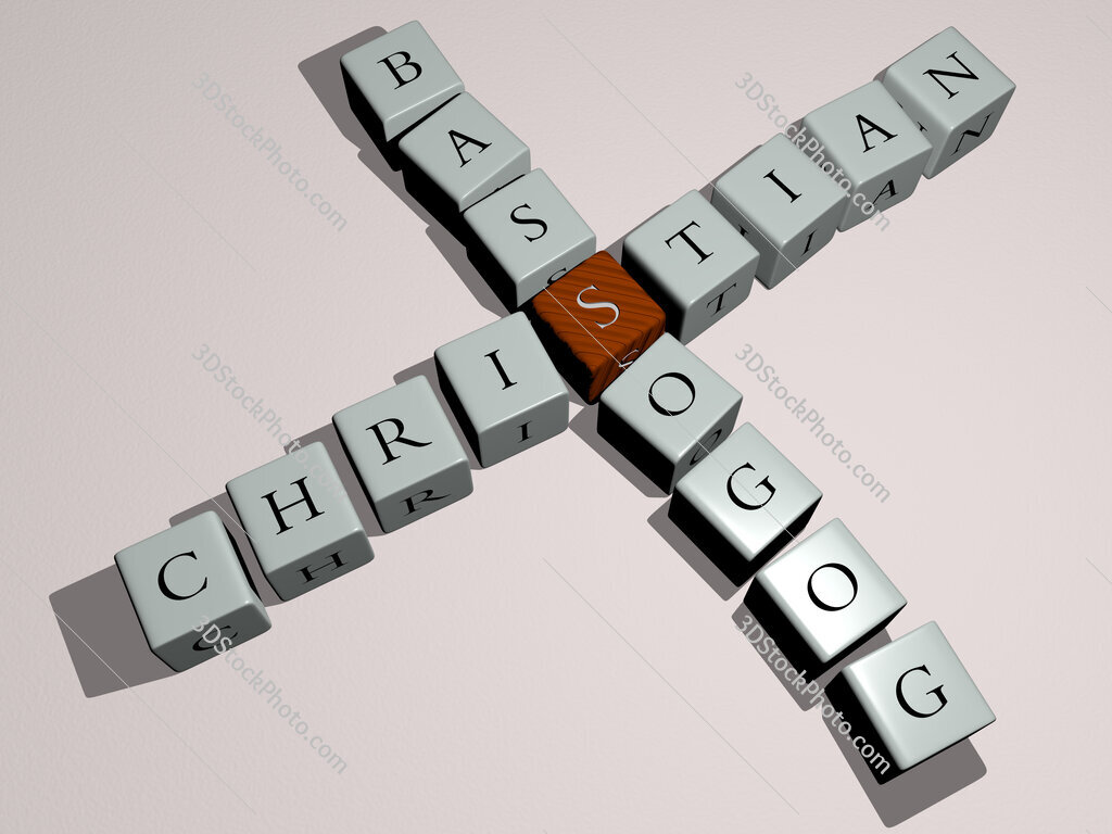 Christian Bassogog crossword by cubic dice letters