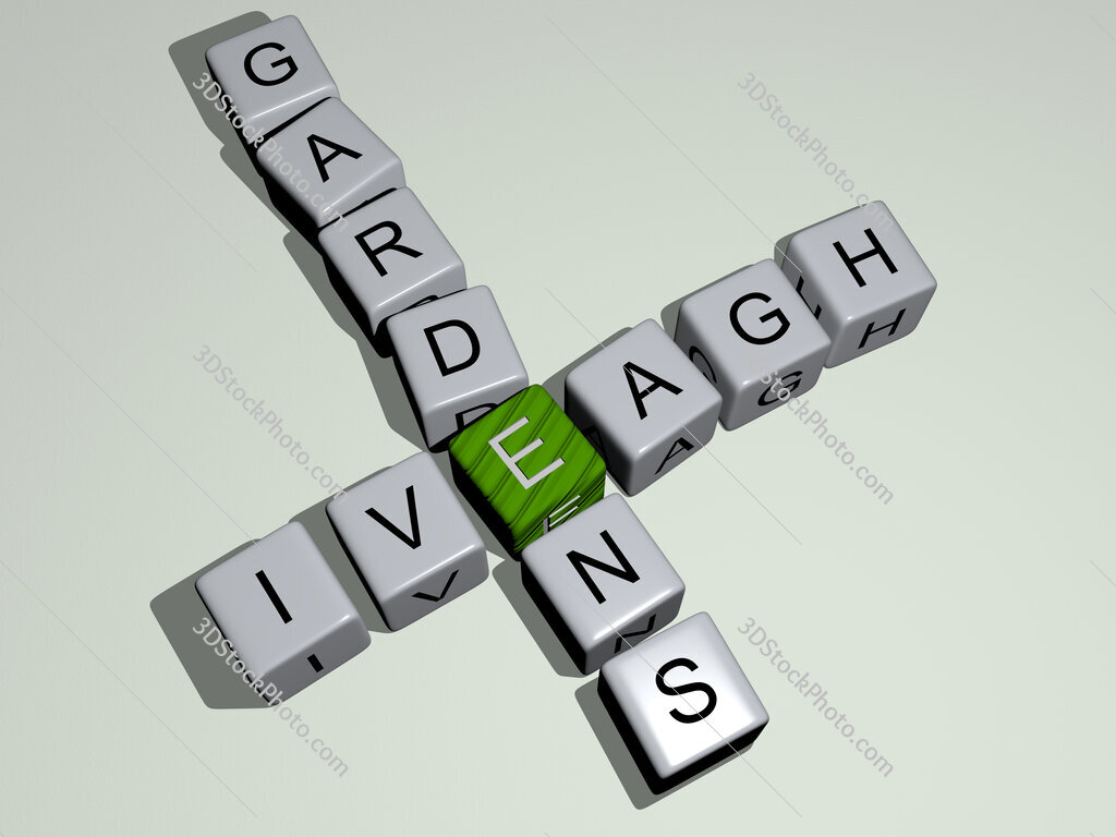 Iveagh Gardens crossword by cubic dice letters