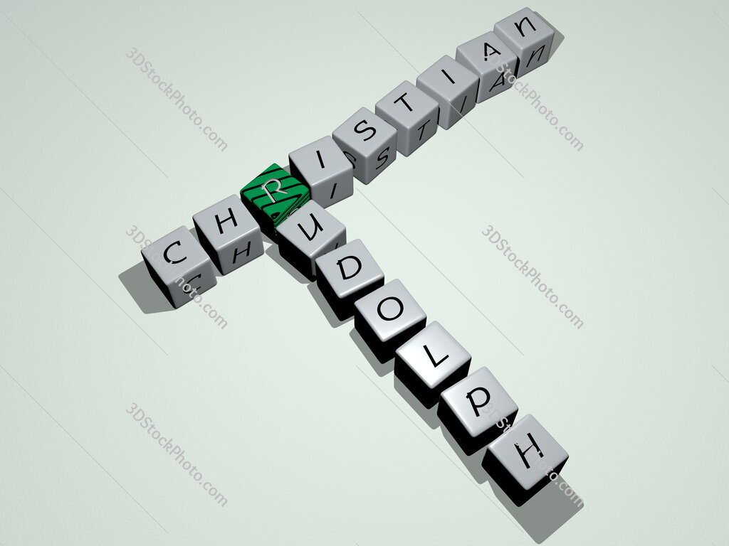 Christian Rudolph crossword by cubic dice letters