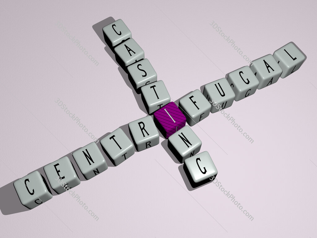 Centrifugal casting crossword by cubic dice letters