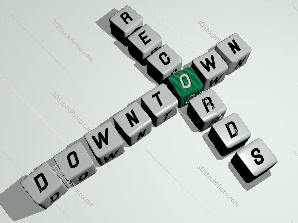 Downtown Records crossword by cubic dice letters