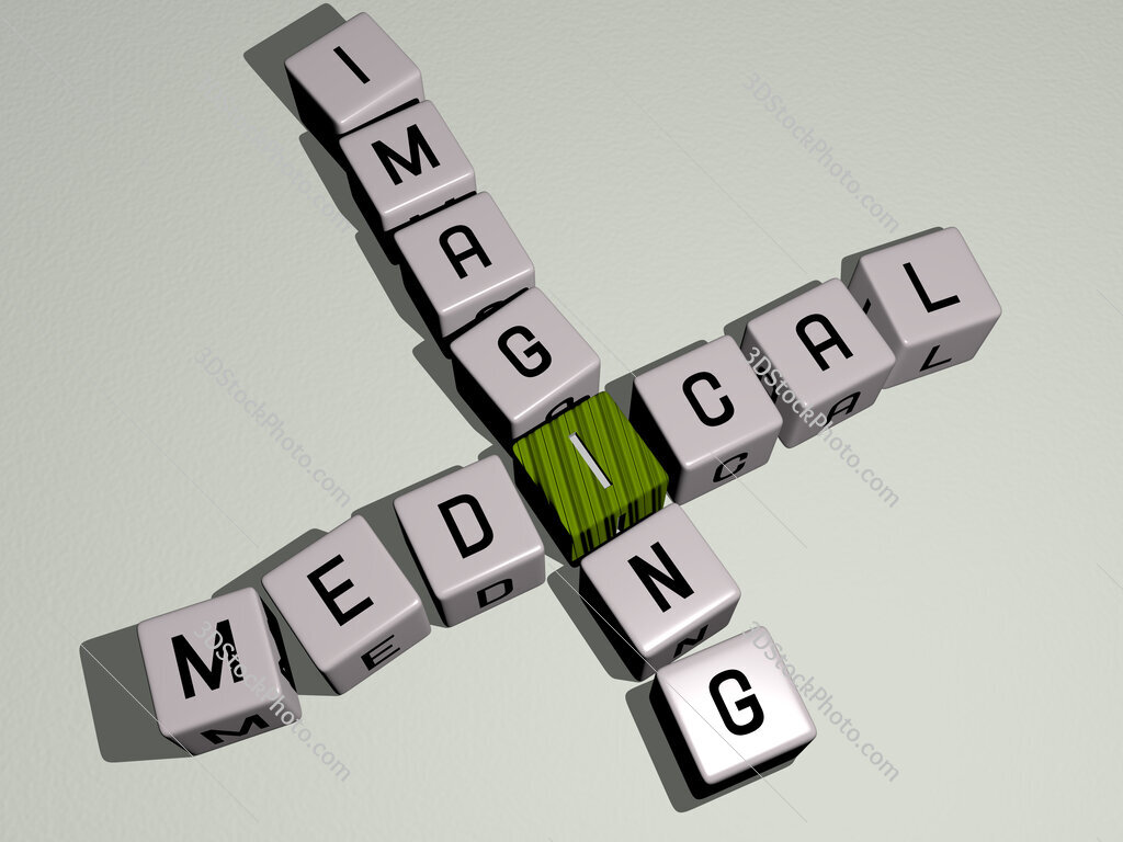 Medical imaging crossword by cubic dice letters