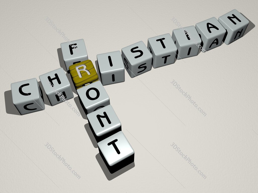 Christian Front crossword by cubic dice letters