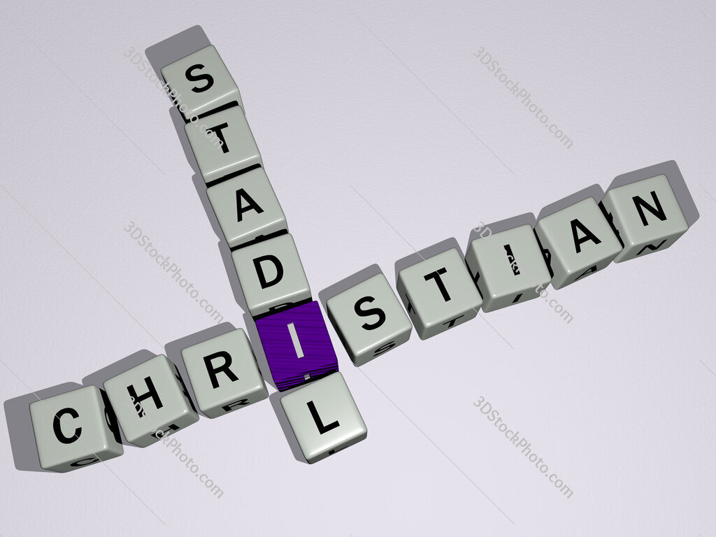 Christian Stadil crossword by cubic dice letters