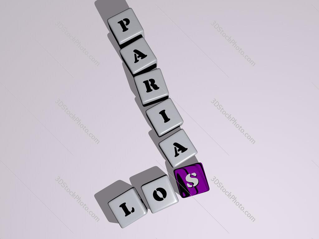 Los Parias crossword by cubic dice letters