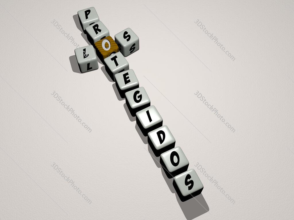 Los Protegidos crossword by cubic dice letters