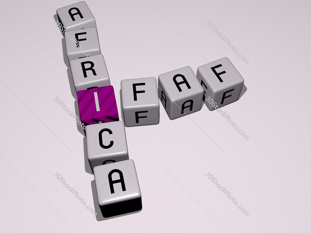 IFAF Africa crossword by cubic dice letters