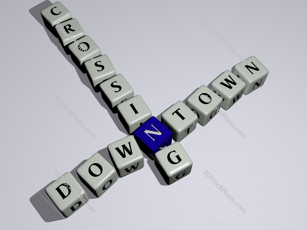 Downtown Crossing crossword by cubic dice letters