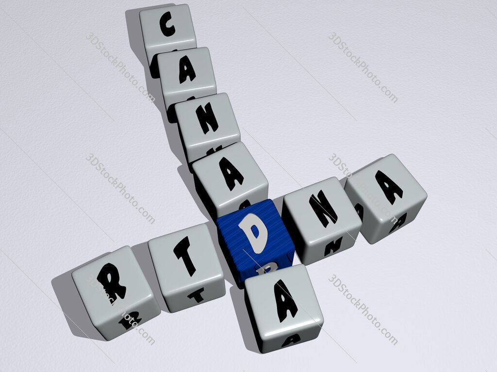 RTDNA Canada crossword by cubic dice letters