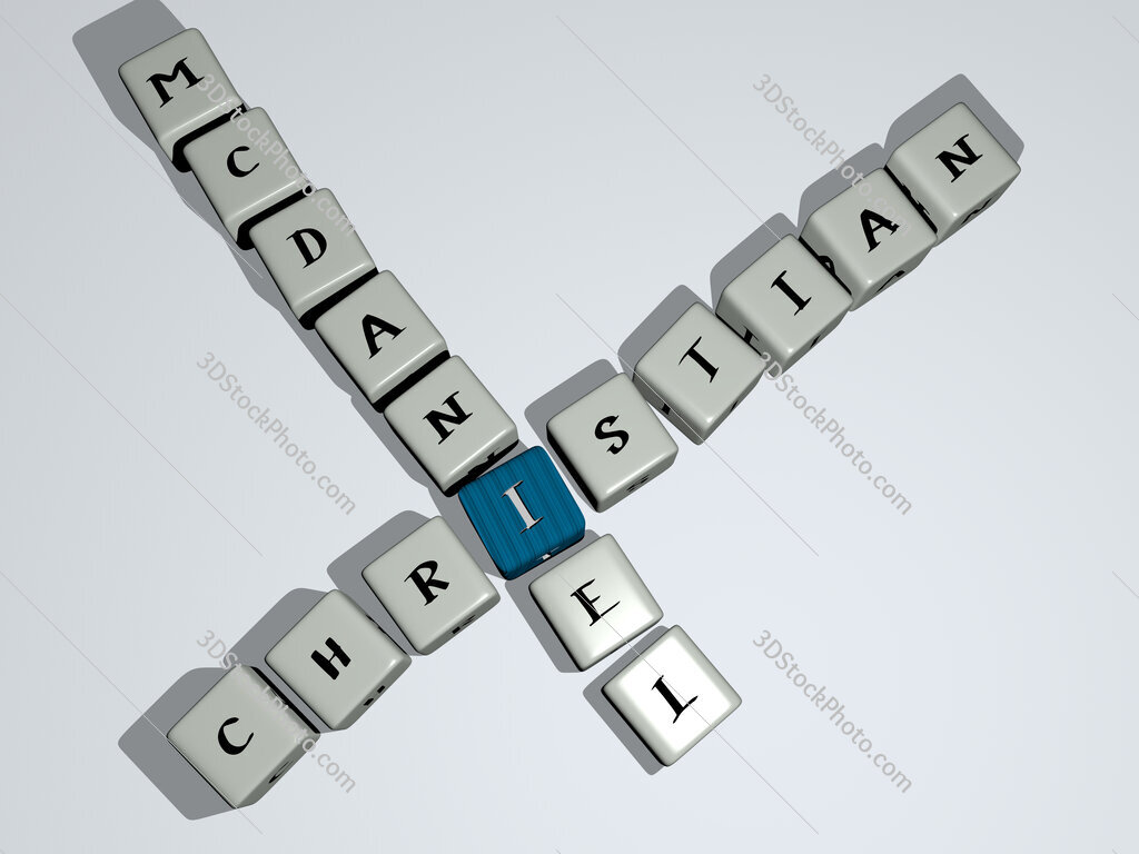 Christian McDaniel crossword by cubic dice letters