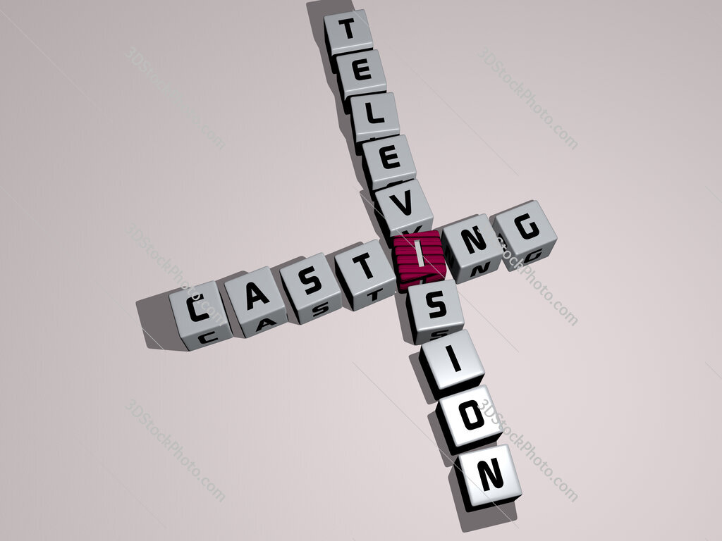 Casting television crossword by cubic dice letters