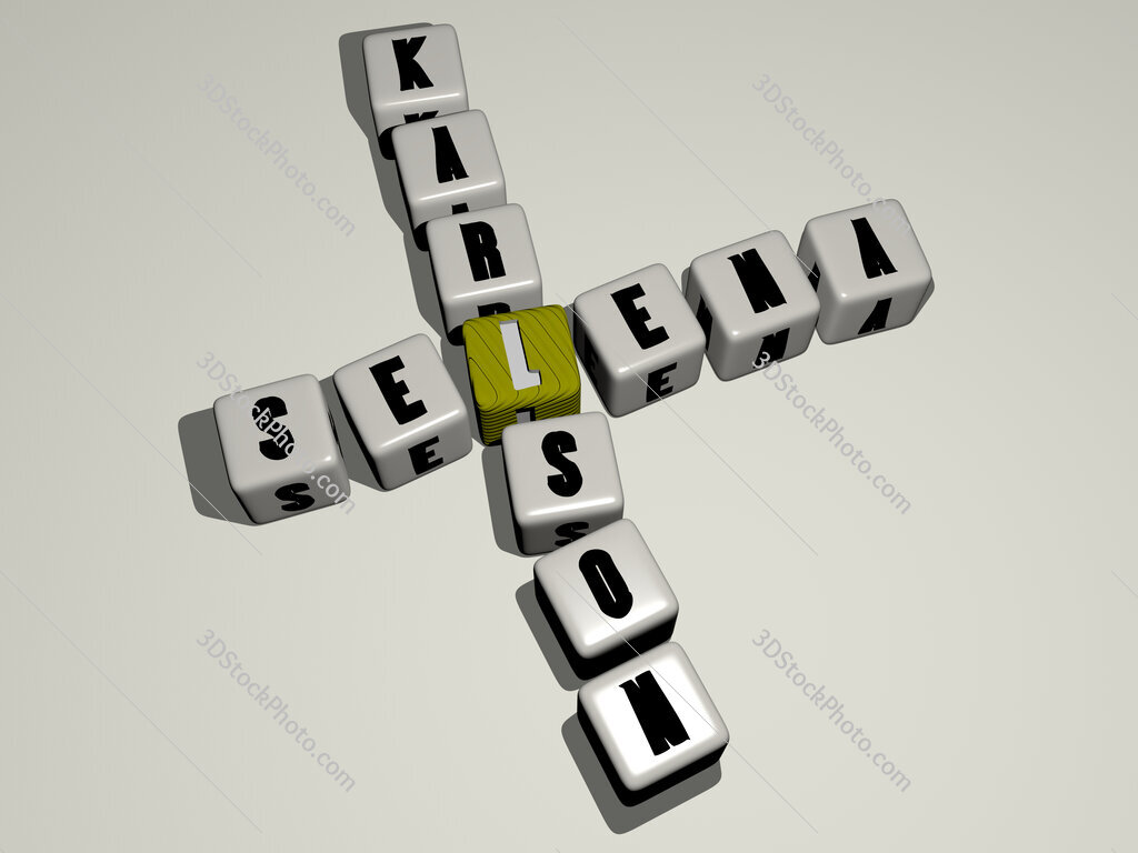 Selena Karlson crossword by cubic dice letters