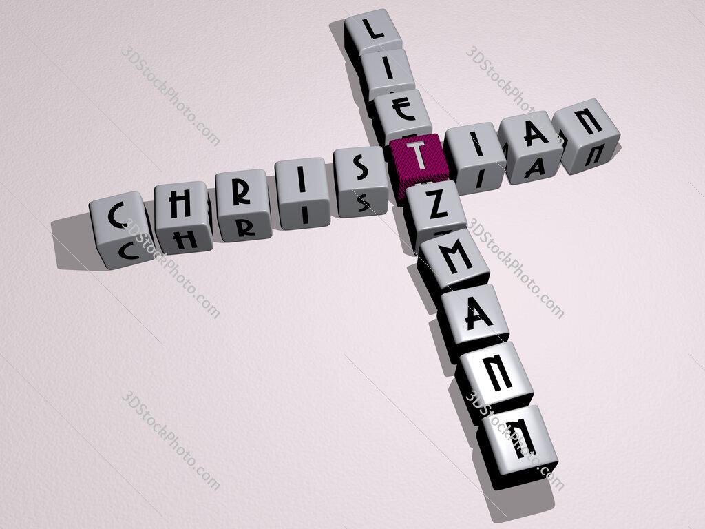 Christian Lietzmann crossword by cubic dice letters