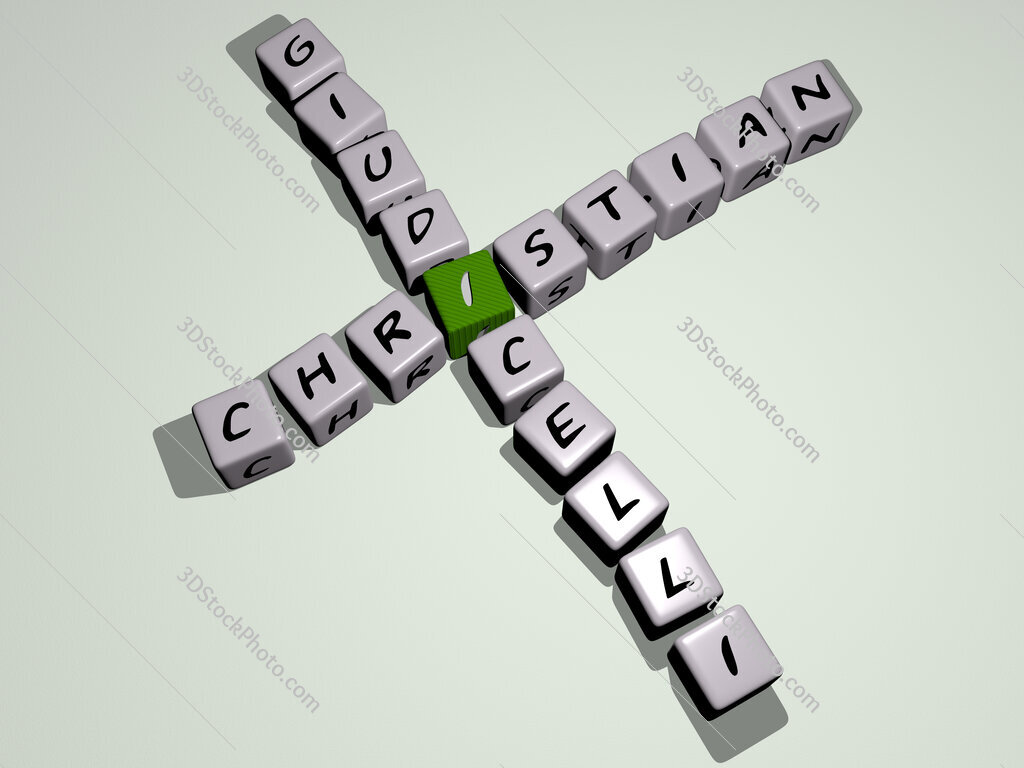 Christian Giudicelli crossword by cubic dice letters