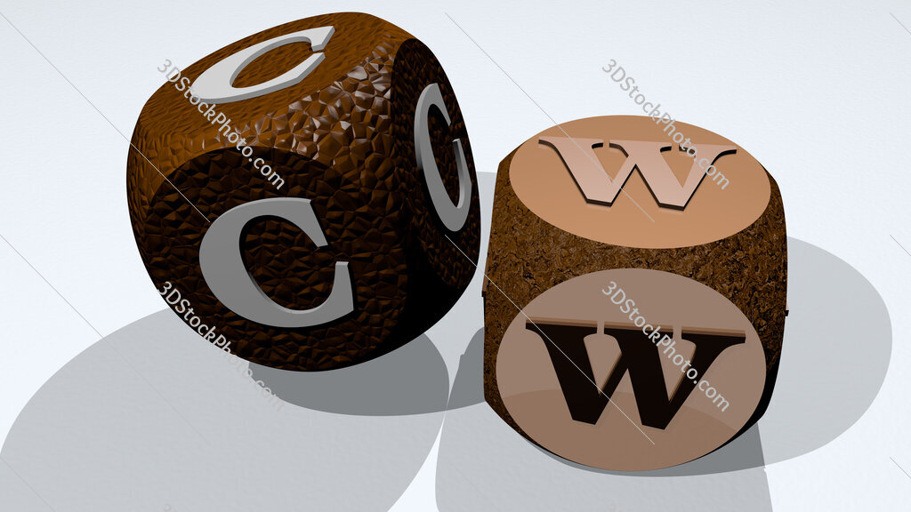 CW text by dancing dice letters