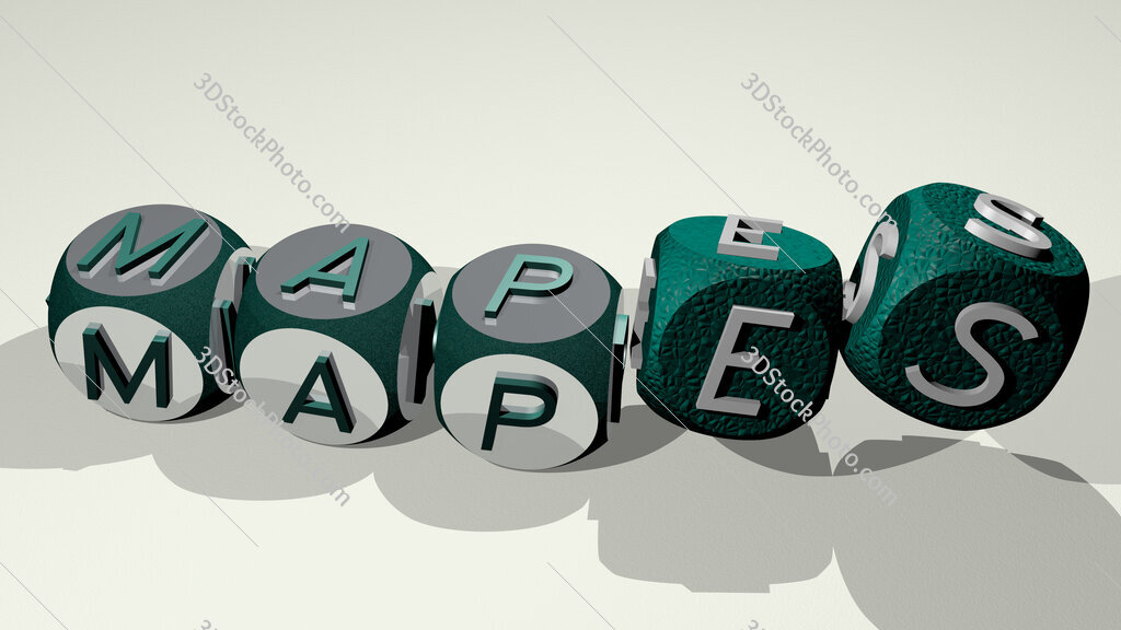 Mapes text by dancing dice letters