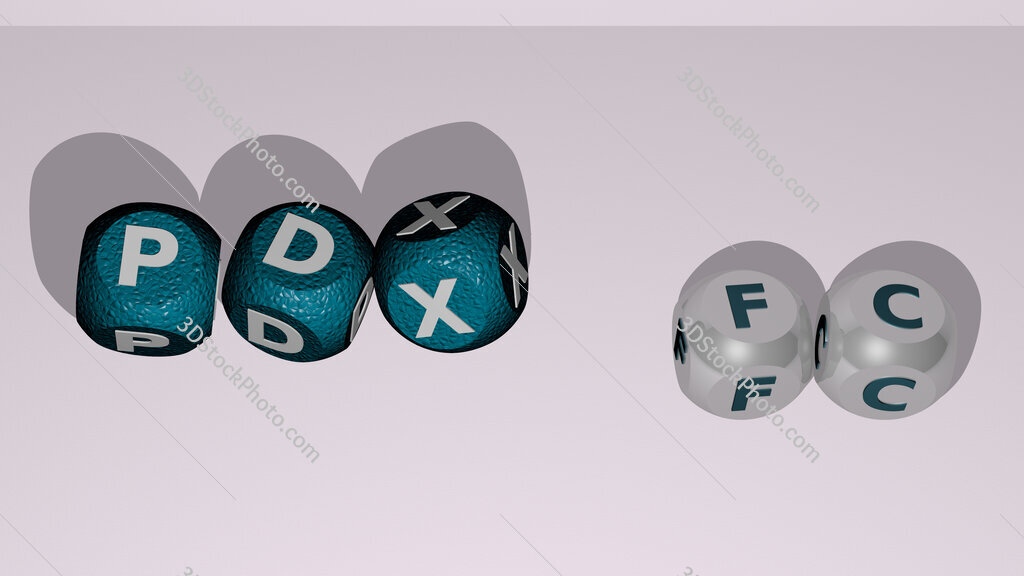 PDX FC dancing cubic letters