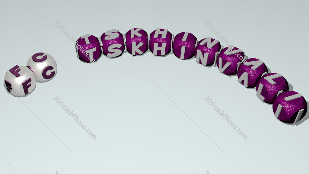 FC Tskhinvali curved text of cubic dice letters
