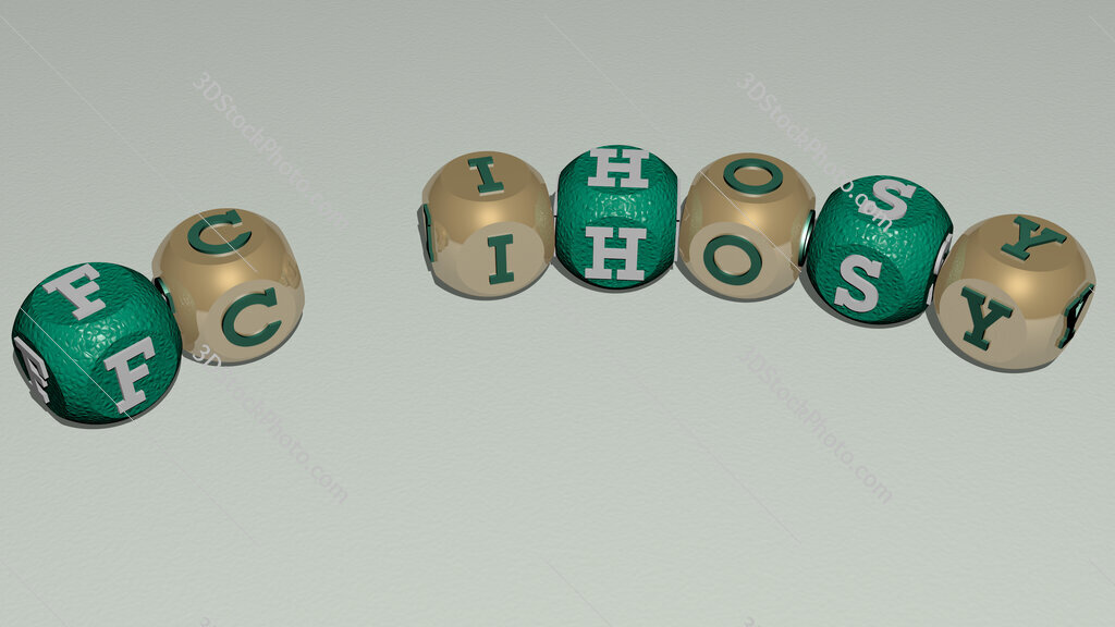 FC Ihosy curved text of cubic dice letters
