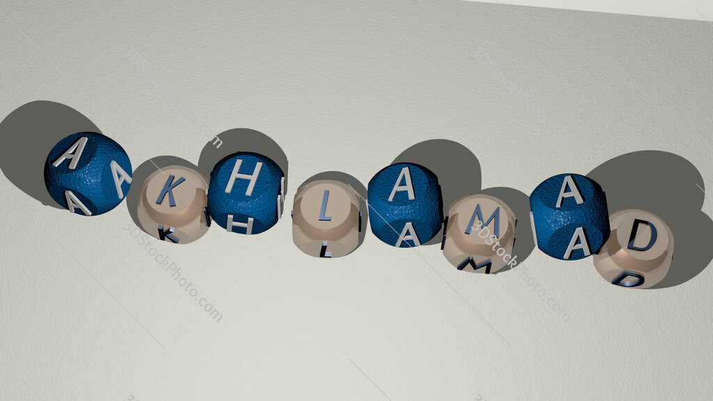 Akhlamad dancing cubic letters