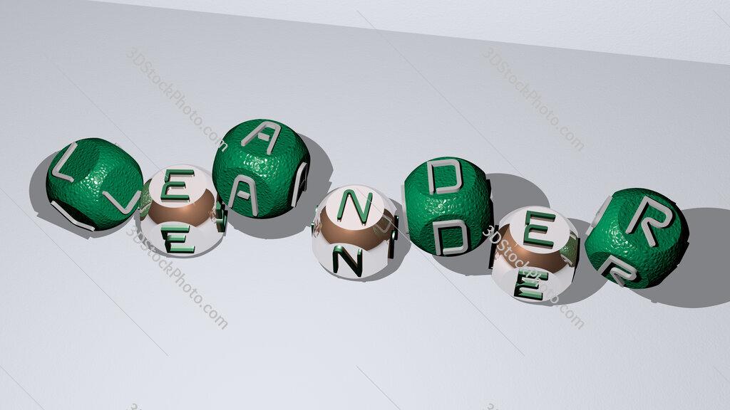 Leander dancing cubic letters