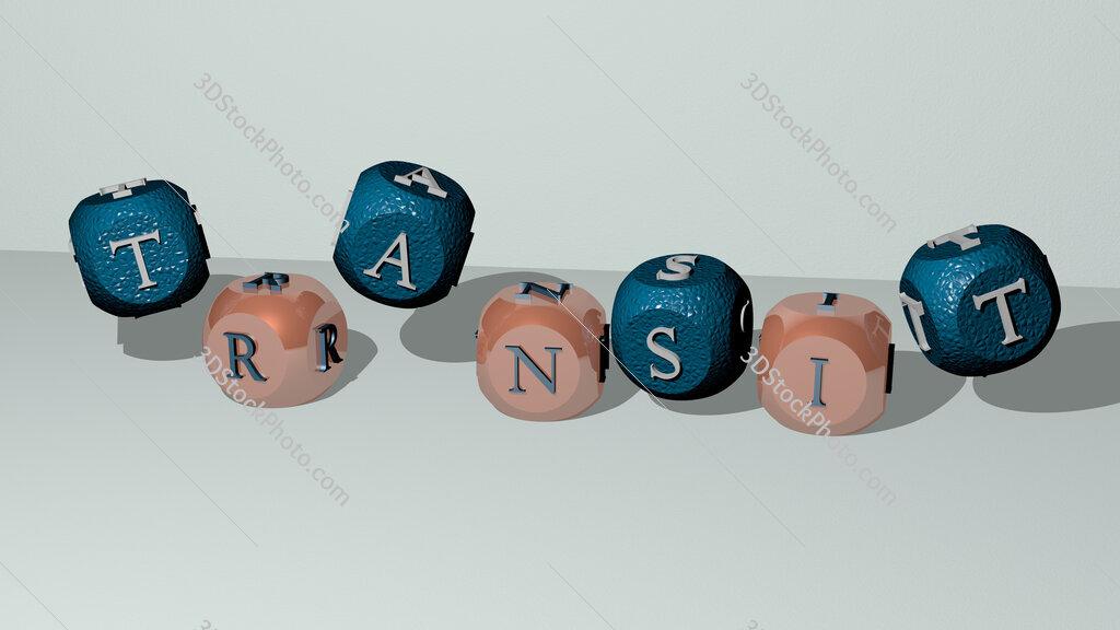 TransIT dancing cubic letters