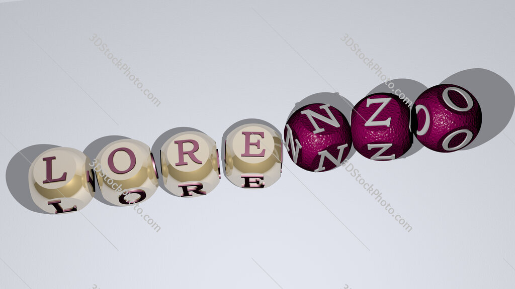 Lorenzo dancing cubic letters
