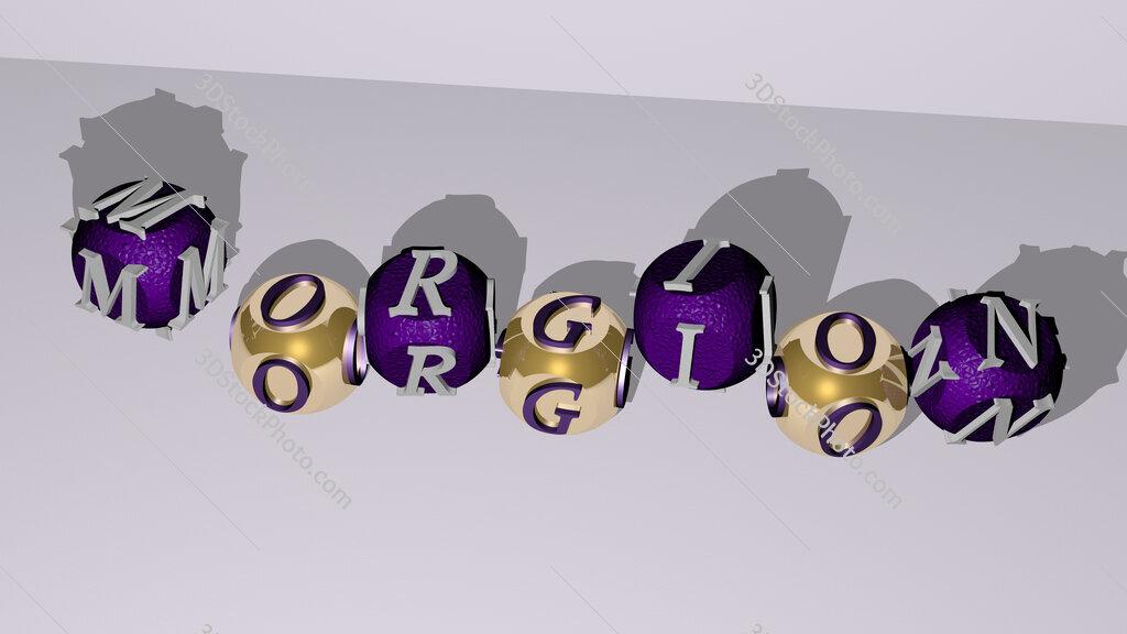 Morgion dancing cubic letters