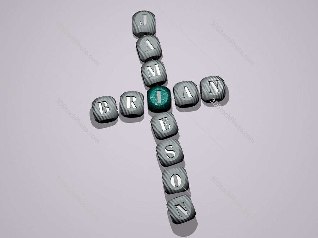 Brian Jamieson crossword of dice letters in color