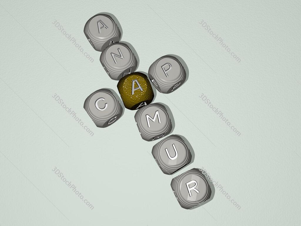 Cap Anamur crossword of dice letters in color