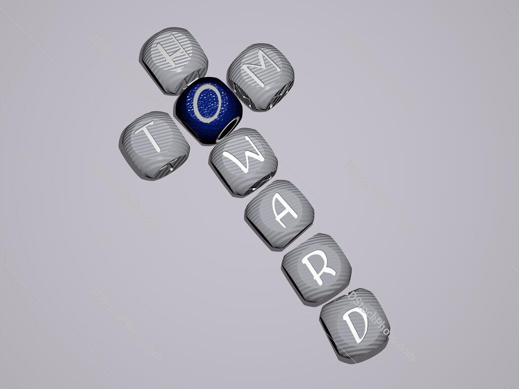 Tom Howard crossword of dice letters in color