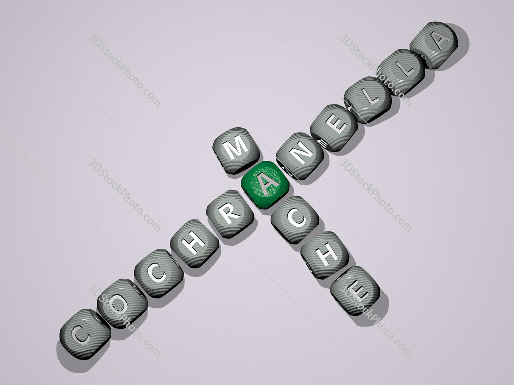 Cochranella mache crossword of dice letters in color