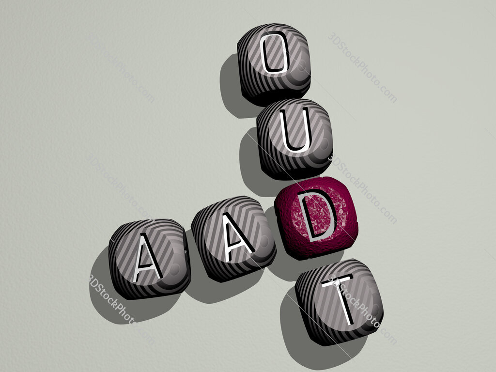 Aad Oudt crossword of dice letters in color