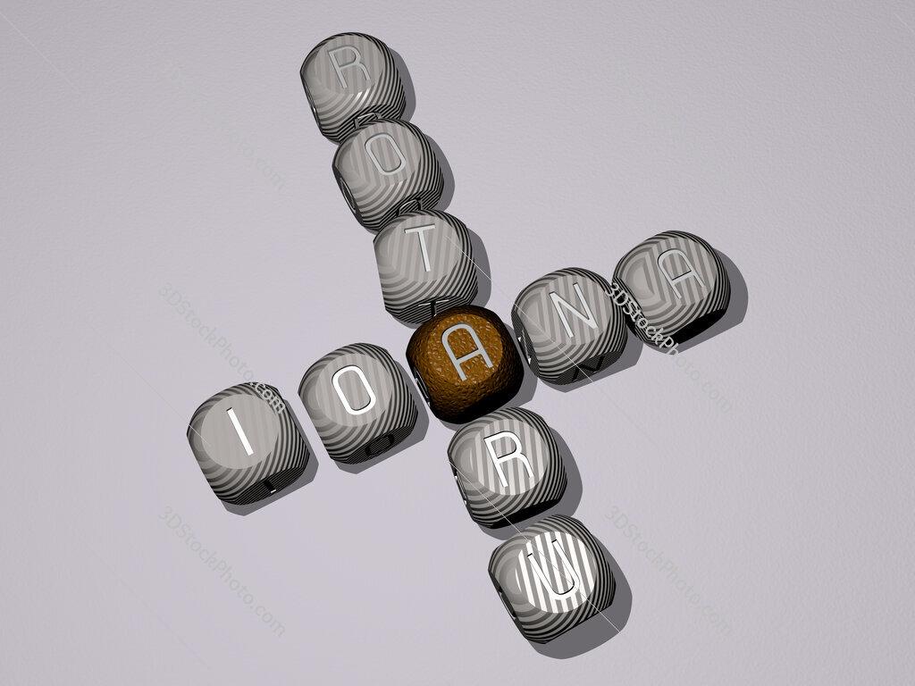 Ioana Rotaru crossword of dice letters in color