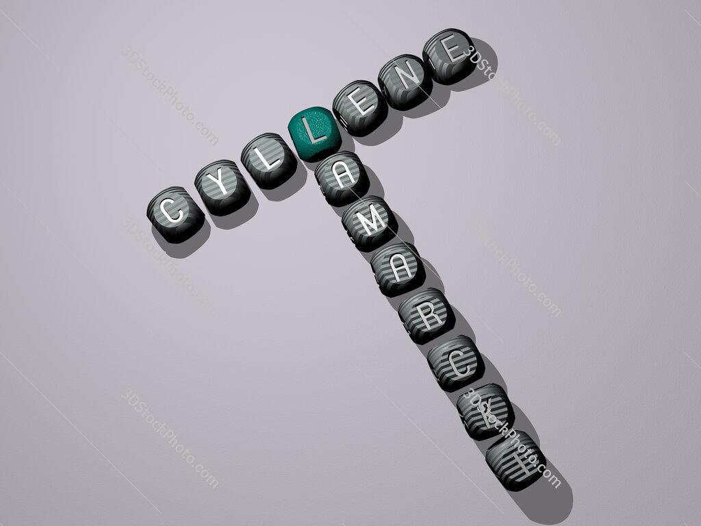 Cyllene lamarcki crossword of dice letters in color