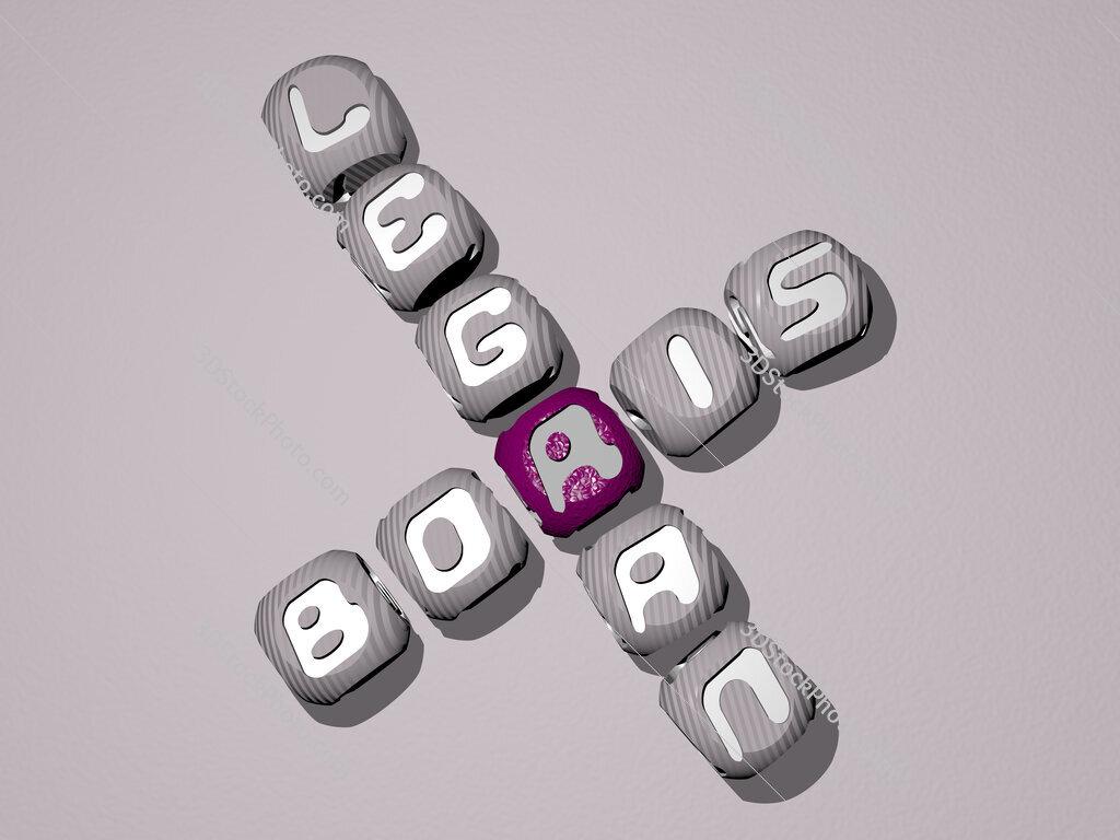 Boris Legran crossword of dice letters in color