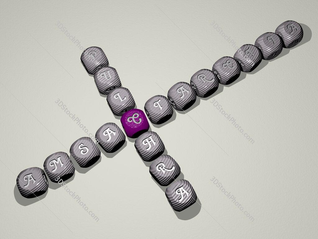 Amsactarctia pulchra crossword of dice letters in color
