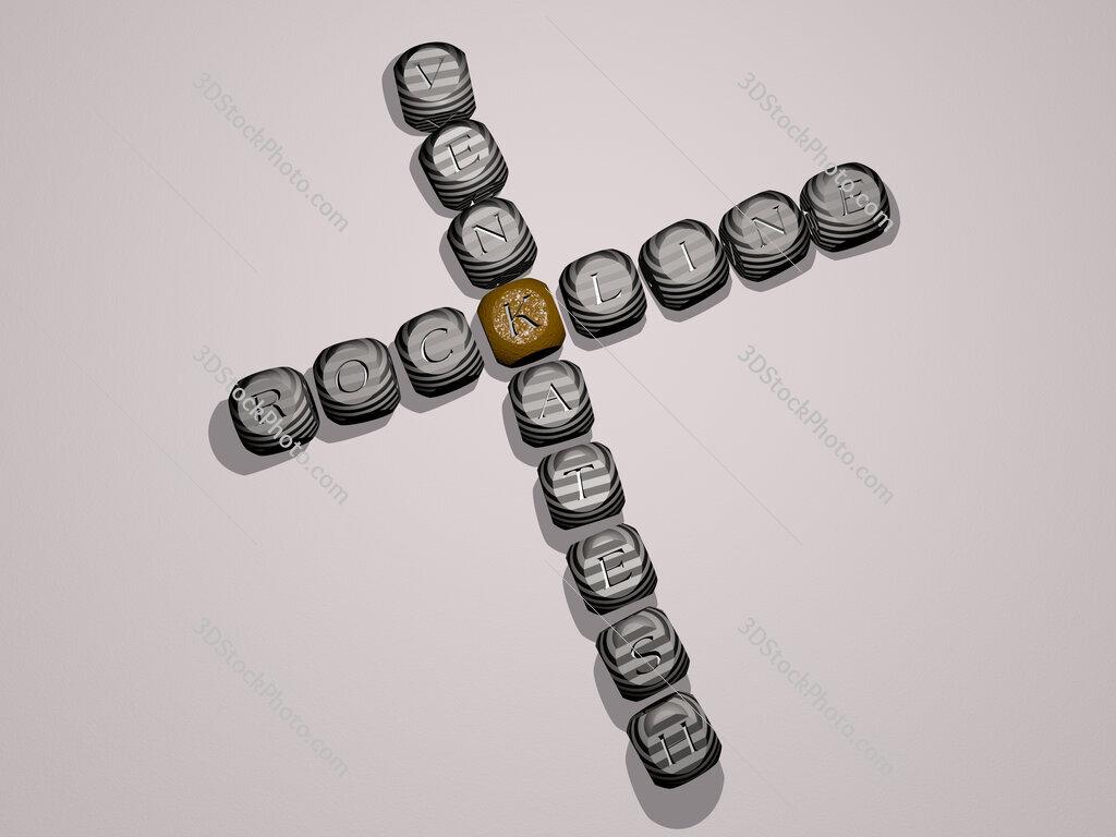 Rockline Venkatesh crossword of dice letters in color