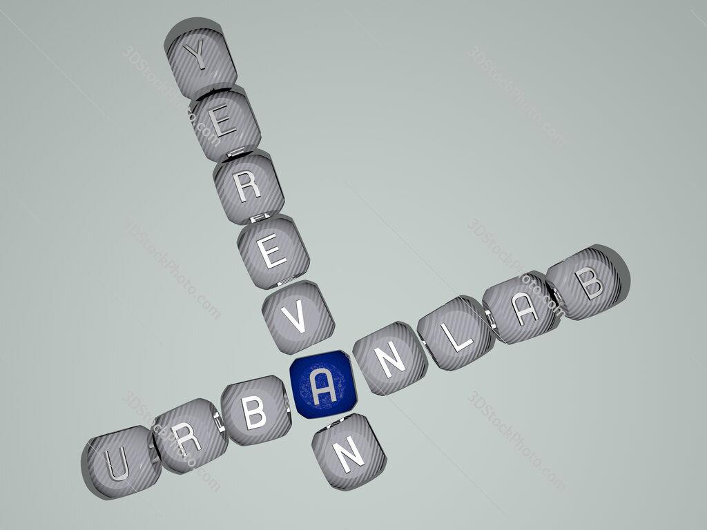 Urbanlab Yerevan crossword of dice letters in color