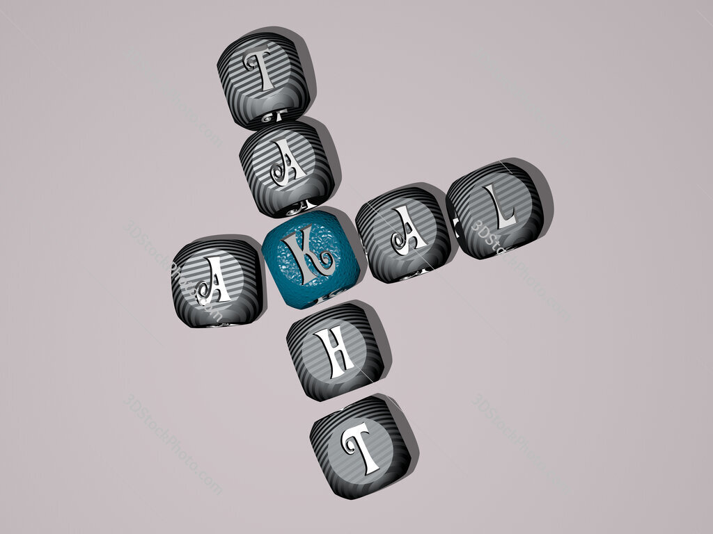 Akal Takht crossword of dice letters in color