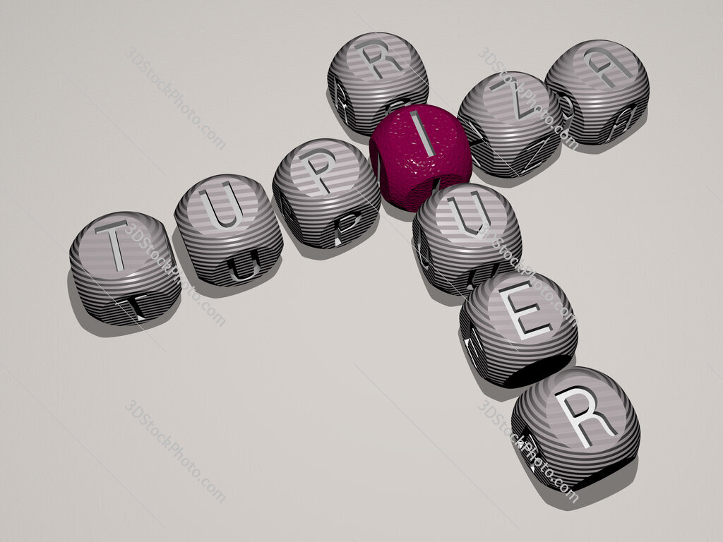 Tupiza River crossword of dice letters in color